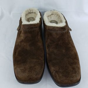 Ugg mules brown size 8